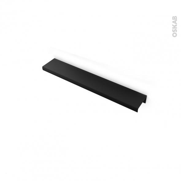 Poign e de meuble de cuisine n 36 noir 20 cm entraxe 64 mm for Poignee cuisine noire