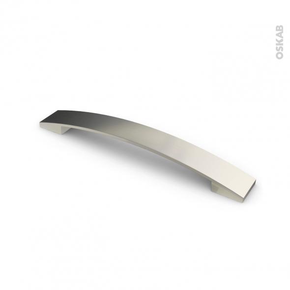 Poign e de meuble de cuisine n 3 inox bross 20 2 cm entraxe 160 mm sokleo oskab - Meuble cuisine inox ...