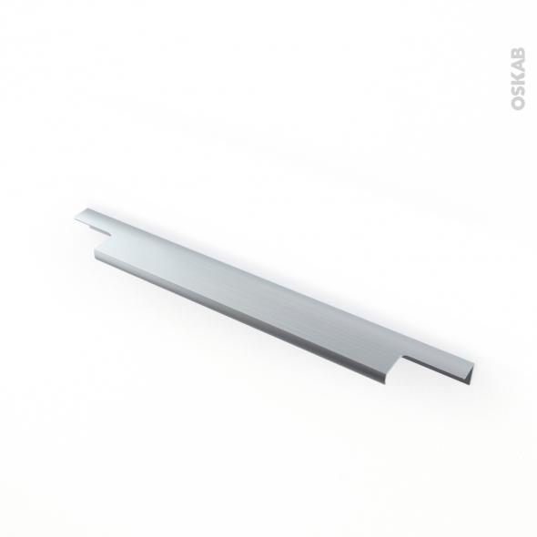 Poign e de meuble de cuisine n 37 inox bross 30 cm for Cuisine inox brosse