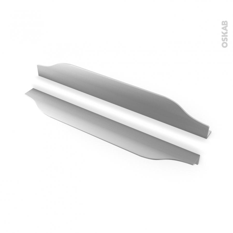 poign e de meuble de cuisine n 57 inox bross 29 6 cm entraxe 192 mm sokleo oskab. Black Bedroom Furniture Sets. Home Design Ideas