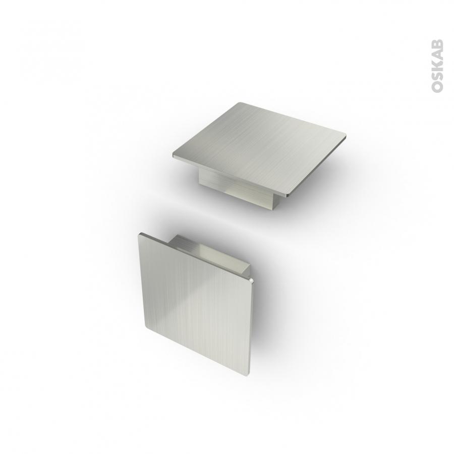 Poign e de meuble de cuisine n 14 inox bross 7 3 cm for Poignee meuble cuisine inox