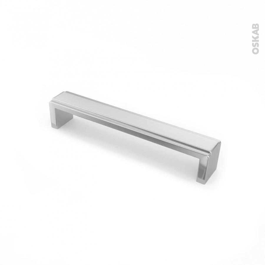 Poign e de meuble de cuisine n 5 inox bross 16 8 cm for Meuble cuisine inox brosse