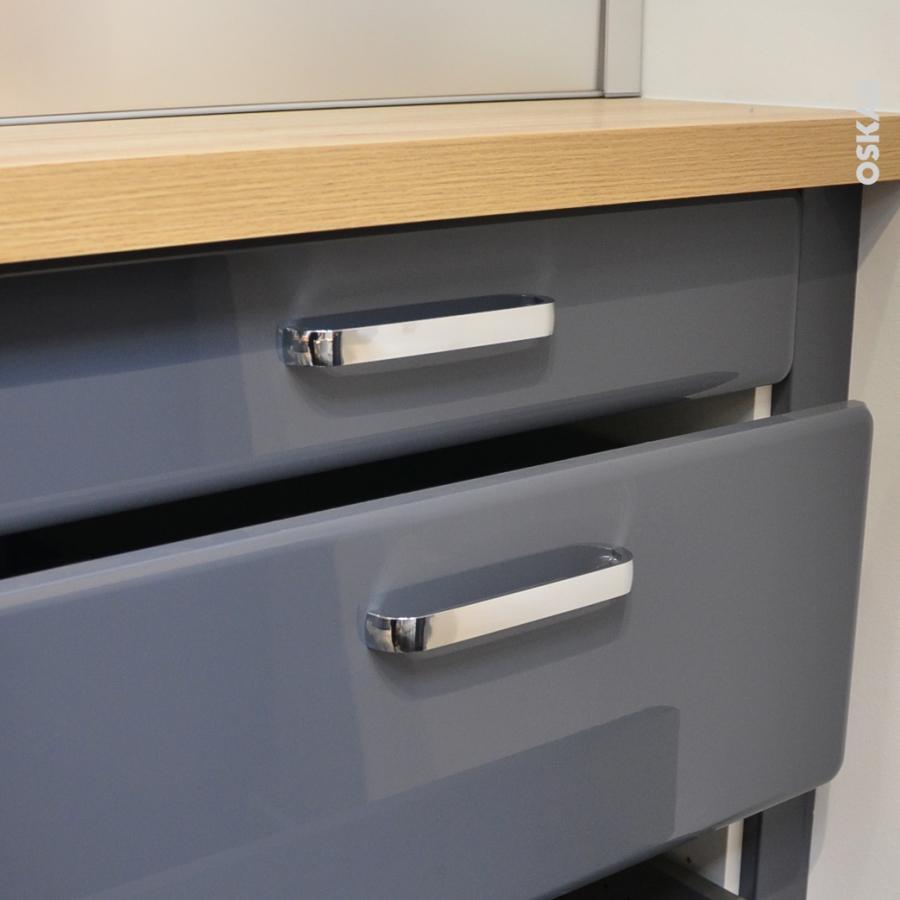 poign e de meuble de cuisine n 34 chrom brillant 17 2 cm entraxe 160 mm sokleo oskab. Black Bedroom Furniture Sets. Home Design Ideas