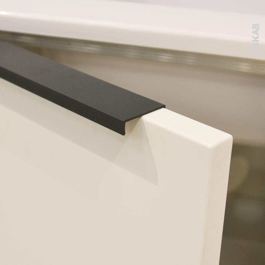 Poign e de meuble de cuisine n 36 noir 20 cm entraxe 64 mm sokleo oskab - Poignee et bouton de cuisine ...