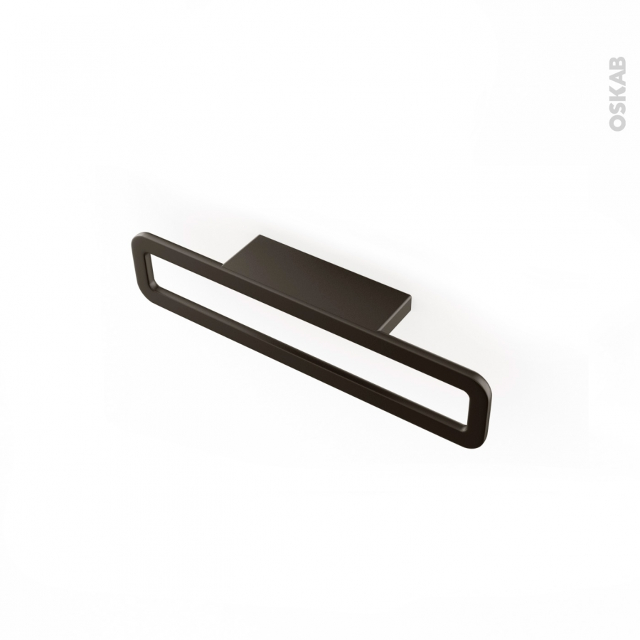 poign e de meuble de cuisine n 39 chrome noir mat 16 6 cm entraxe 64 mm sokleo oskab. Black Bedroom Furniture Sets. Home Design Ideas