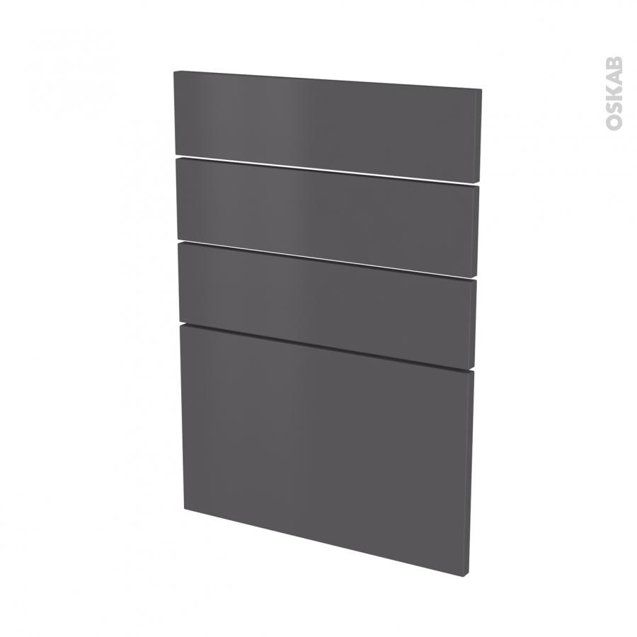 fa ades de cuisine 4 tiroirs n 55 ginko gris l50 x h70 cm oskab. Black Bedroom Furniture Sets. Home Design Ideas