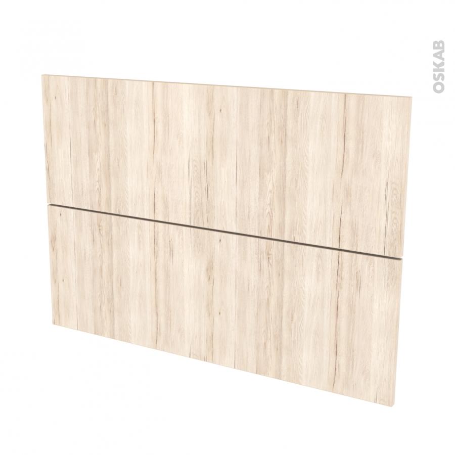 Fa ades de cuisine 2 tiroirs n 61 ikoro ch ne clair l100 x for Porte cuisine chene