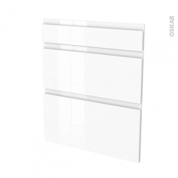 fa ades de cuisine 3 tiroirs n 58 ipoma blanc brillant l60 x h70 cm oskab. Black Bedroom Furniture Sets. Home Design Ideas