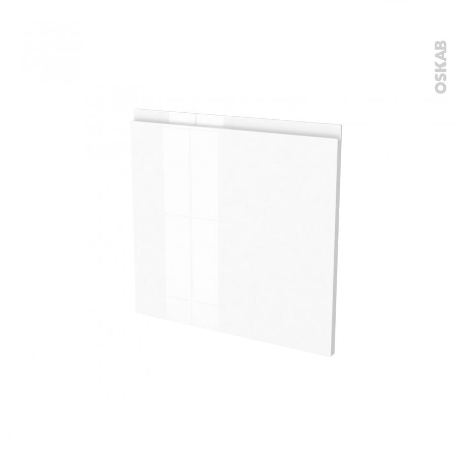 Fa ades de cuisine porte n 16 ipoma blanc brillant l60 x for Porte cuisine blanc brillant