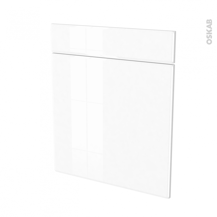 Fa ades de cuisine 1 porte 1 tiroir n 56 iris blanc l60 x for Porte cuisine 60 x 90