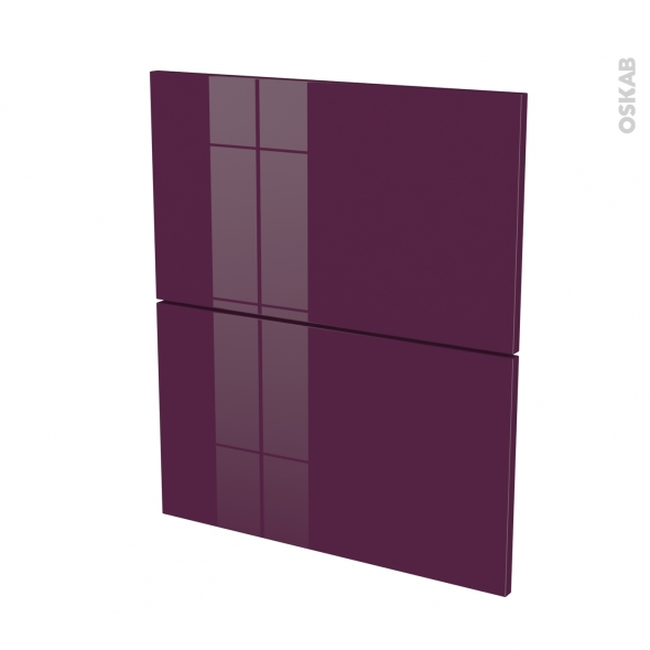 fa ades de cuisine 2 tiroirs n 57 keria aubergine l60 x h70 cm oskab. Black Bedroom Furniture Sets. Home Design Ideas