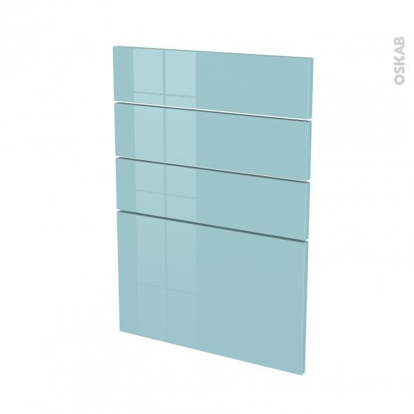 fa ades de cuisine 4 tiroirs n 55 keria bleu l50 x h70 cm oskab. Black Bedroom Furniture Sets. Home Design Ideas