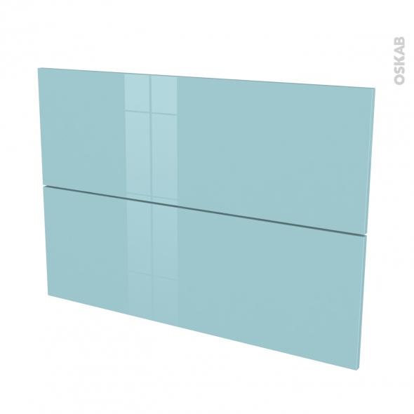 fa ades de cuisine 2 tiroirs n 61 keria bleu l100 x h70 cm oskab. Black Bedroom Furniture Sets. Home Design Ideas