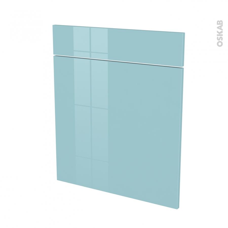 Fa ades de cuisine 1 porte 1 tiroir n 56 keria bleu l60 x for Porte de facade pour cuisine