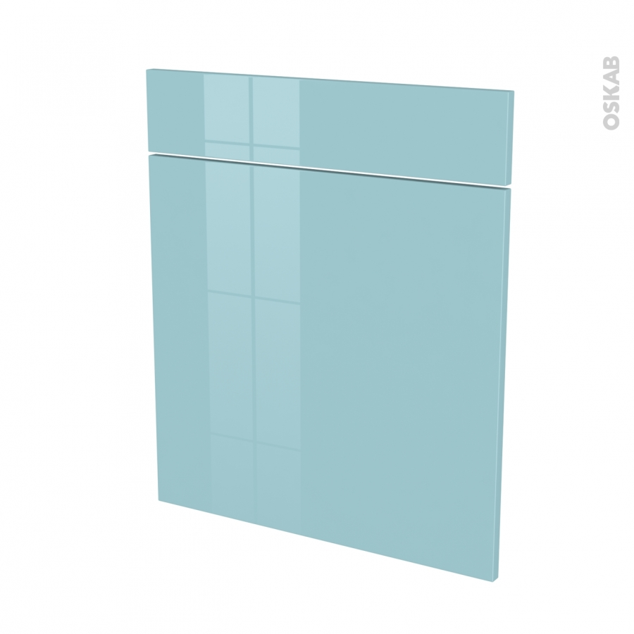fa ades de cuisine 1 porte 1 tiroir n 56 keria bleu l60 x h70 cm oskab. Black Bedroom Furniture Sets. Home Design Ideas