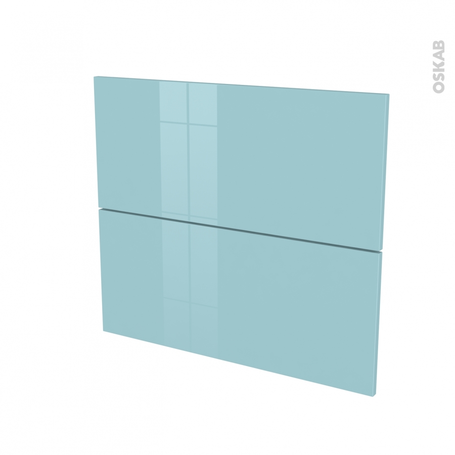 fa ades de cuisine 2 tiroirs n 60 keria bleu l80 x h70 cm oskab. Black Bedroom Furniture Sets. Home Design Ideas