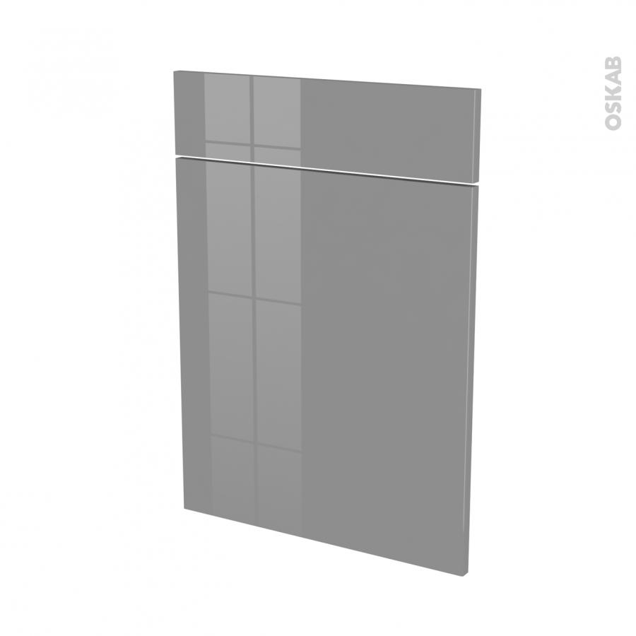 Fa ades de cuisine 1 porte 1 tiroir n 54 stecia gris l50 x for Porte de facade pour cuisine