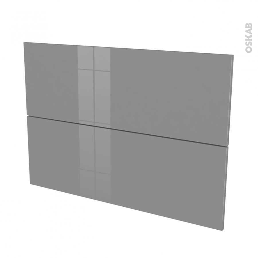 Fa ades de cuisine 2 tiroirs n 61 stecia gris l100 x h70 cm oskab for Comfacade de cuisine seule