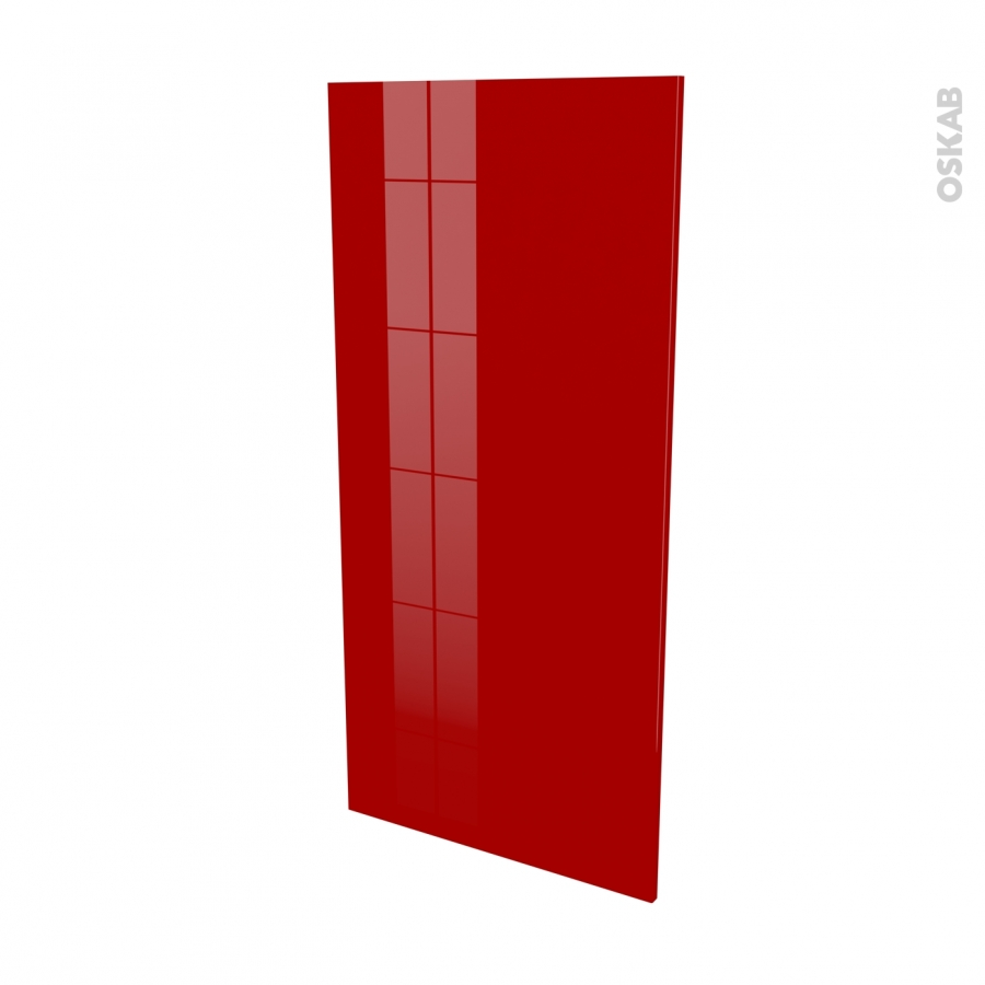 Fa ades de cuisine porte n 27 stecia rouge l60 x h125 cm for Facade de porte cuisine