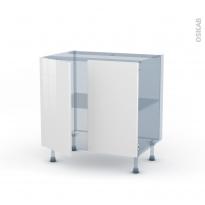 BORA Blanc - Kit Rénovation 18 - Meuble bas cuisine  - 2 portes - L80xH70xP60