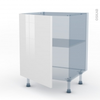BORA Blanc - Kit Rénovation 18 - Meuble sous-évier  - 1 porte - L60xH70xP60