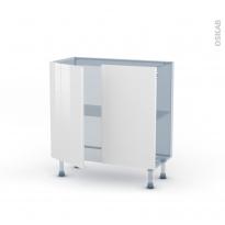 BORA Blanc - Kit Rénovation 18 - Meuble bas prof.37  - 2 portes - L80xH70xP37,5