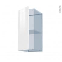 BORA Blanc - Kit Rénovation 18 - Meuble haut ouvrant H70  - 1 porte - L30xH70xP37,5