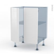 BORA Blanc - Kit Rénovation 18 - Meuble bas cuisine - 2 portes - L60xH70xP60