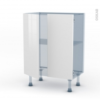 BORA Blanc - Kit Rénovation 18 - Meuble bas prof.37 - 2 portes - L60xH70xP37,5