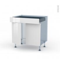 BORA Blanc - Kit Rénovation 18 - Meuble bas cuisine  - 2 portes 1 tiroir - L80xH70xP60