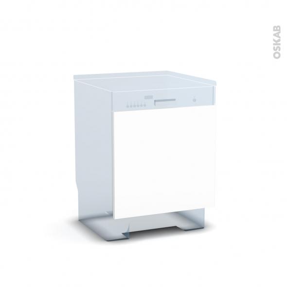 BORA Blanc - Rénovation 18 - Porte N°16 - Lave vaisselle intégrable - L60xH57