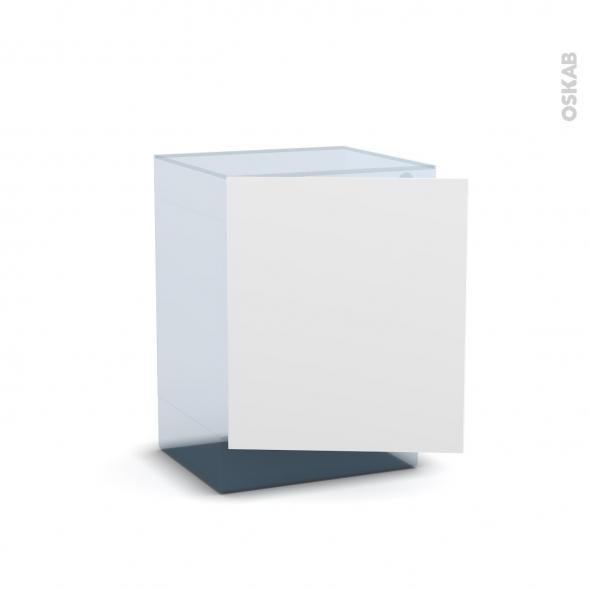 BORA Blanc - Rénovation 18 - Porte N°21 - Lave linge - L60xH70