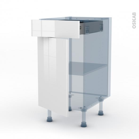 BORA Blanc - Kit Rénovation 18 - Meuble bas cuisine  - 1 porte 1 tiroir - L40xH70xP60