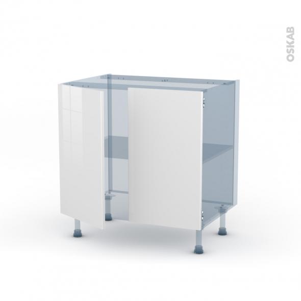 BORA Blanc - Kit Rénovation 18 - Meuble sous-évier  - 2 portes - L80xH70xP60