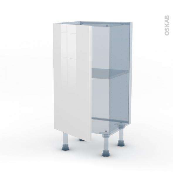 BORA Blanc - Kit Rénovation 18 - Meuble bas prof.37  - 1 porte - L40xH70xP37,5