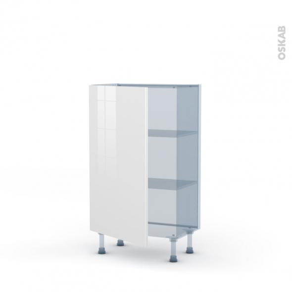 BORA Blanc - Kit Rénovation 18 - Meuble bas prof.37  - 1 porte - L60xH92xP37,5