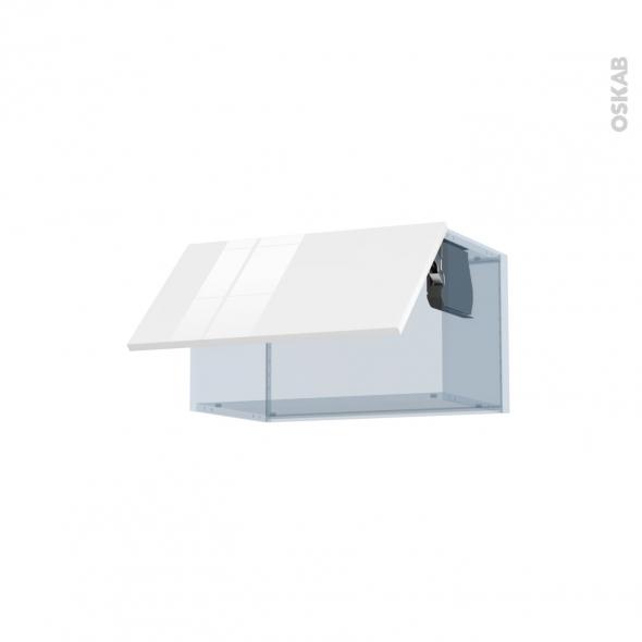 BORA Blanc - Kit Rénovation 18 - Meuble haut abattant H35  - 1 porte - L60xH35xP37,5