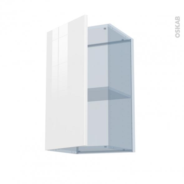 BORA Blanc - Kit Rénovation 18 - Meuble haut ouvrant H70  - 1 porte - L40xH70xP37,5
