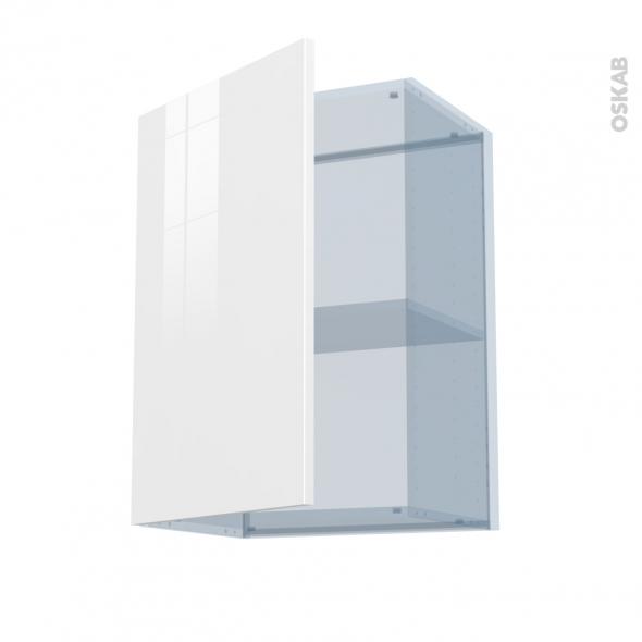 BORA Blanc - Kit Rénovation 18 - Meuble haut ouvrant H70  - 1 porte - L50xH70xP37,5