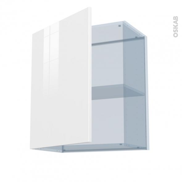 BORA Blanc - Kit Rénovation 18 - Meuble haut ouvrant H70  - 1 porte - L60xH70xP37,5