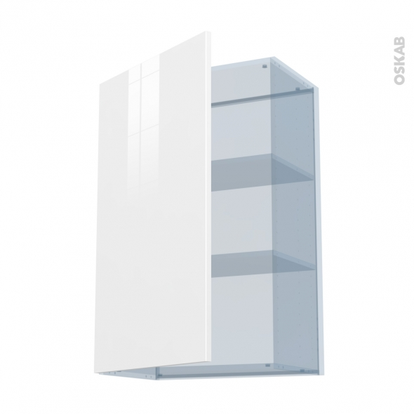 BORA Blanc - Kit Rénovation 18 - Meuble haut ouvrant H92  - 1 porte - L60xH92xP37,5