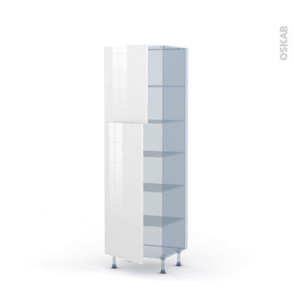 BORA Blanc - Kit Rénovation 18 - Armoire étagère N°2721  - 2 portes - L60xH195xP60
