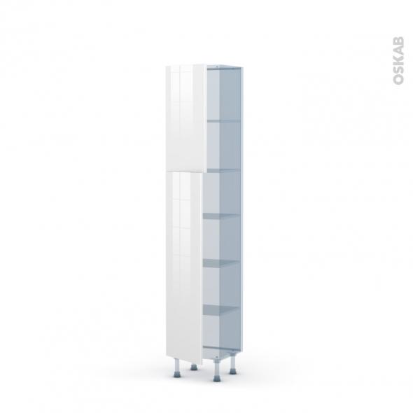 BORA Blanc - Kit Rénovation 18 - Armoire étagère N°1926   - Prof.37  2 portes - L40xH195xP37,5