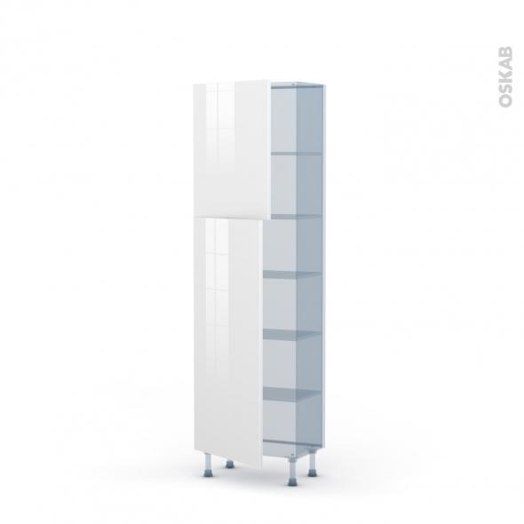 BORA Blanc - Kit Rénovation 18 - Armoire étagère N°2127   - Prof.37  2 portes - L60xH195xP37,5