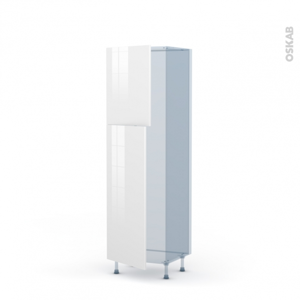 BORA Blanc - Kit Rénovation 18 - Armoire frigo N°2721  - 2 portes - L60xH195xP60