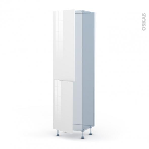 BORA Blanc - Kit Rénovation 18 - Armoire frigo N°2724  - 2 portes - L60xH217xP60