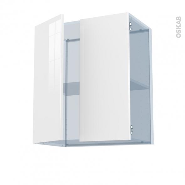BORA Blanc - Kit Rénovation 18 - Meuble haut ouvrant H70 - 2 portes - L60xH70xP37,5
