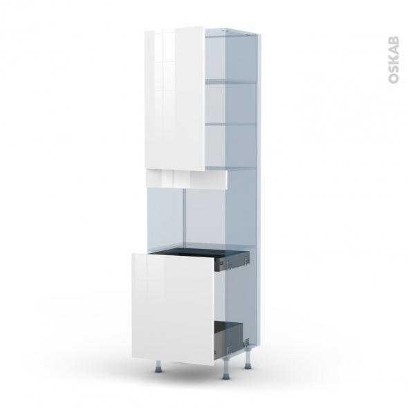 bora blanc kit r novation 18 colonne four n 2416 1 porte 1 porte coulissante l60xh217xp60 oskab. Black Bedroom Furniture Sets. Home Design Ideas