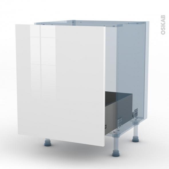 BORA Blanc - Kit Rénovation 18 - Meuble sous-évier  - 1 porte coulissante - L60xH70xP60
