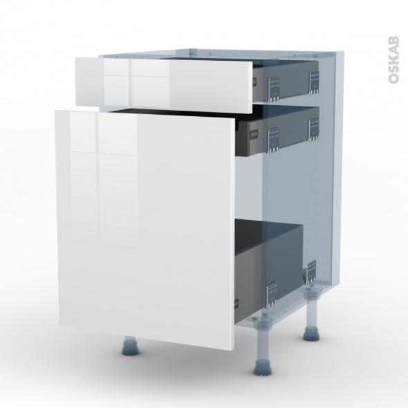bora blanc kit r novation 18 meuble range pice 3 tiroirs l50xh70xp60 oskab. Black Bedroom Furniture Sets. Home Design Ideas